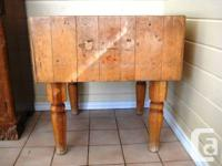 Vintage professional butcher block in solid maple.