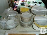 Vintage mikasa fine china dinner set  1 serving