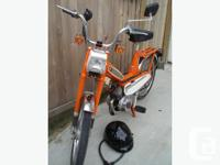 Barely used vintage pedal moped. French made, this