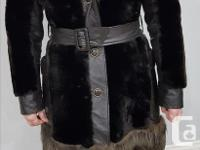 Vintage mouton fur coat (high grade sheepskin) with
