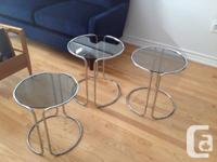 1970's Chic & modern, these round nesting side / end