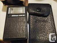 Vintage Nikon EM 35mm Film Camera, Matching Flash,