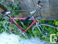 Vintage retro Norco flat bar road bike, Shimano 600,