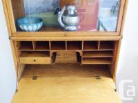 Vintage solid oak 5 piece barrister bookcase with rare