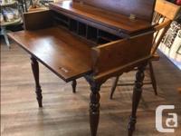 "Vintage Oak Secretary's Desk Measures: W. 32"" H. 33"""