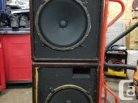 "Vintage Pair of UniVox Pro Mag 15"" Speakers. These"
