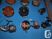 Selling this lot of vintage Peetz, Penn, Daiwa, and