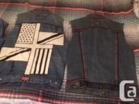 Small in size Made from denim/jean jackets Had em since