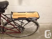 This old school Raleigh is in good shape. It has been