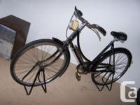 BIG black bike with a 22 inch TI-Raleigh proprietary