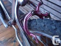 Nice chrome 24 inch wheeled big boy bmx, vintage