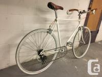 This is a vintage sekine road bike that has been