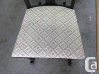Very good condition vintage rocking chair. Fabric like