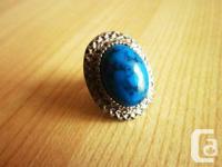 Vintage Round Turquoise Ring
