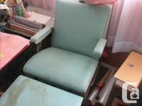Cool rare hair dryer salon chair from the '40s with a