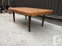 Very cool mid century modern side table in good vintage