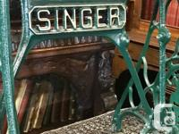 Vintage Singer Sewing Machine Base Converted To Table.