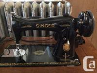 Vintage Singer sewing machine w. original bill of sale