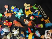 Over 50 small toys as pictured all in excellent