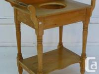 Late Victorian solid want washstand, c/w lesser shelf