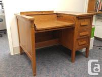Fabulous three drawer desk made of solid wood. Desktop