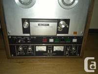 I inherited this Sony reel to reel tape recorder. I