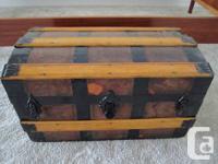 Antique Victorian Steamer Torso Box - circa late