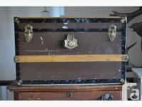 This steamer trunk would make a great coffee table or
