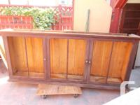 WE ARE PROVIDING FOR SALE AN AGED ANTIQUE SHOP CABINET