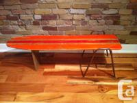 Handcrafted surfboard style coffee table. Made out of a