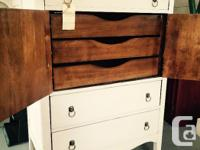 Beautifully refinished tallboy dresser finished in Miss