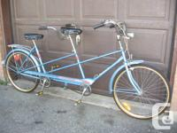 Vintage Classic CCM Tandem 3 Speed Bicycle  A reeeally