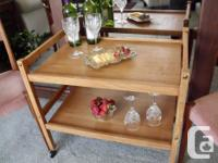 Vintage Teak Bar Cart / Tea Trolley $189 Great place to