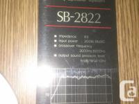"""Vintage Technics Speakers SB-2822 3-Way 26"""" high, 14"""""""