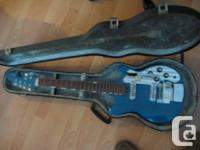vintage teisco del-ray electric guitar,in good
