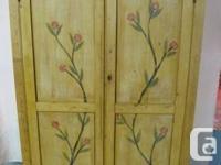 Scottish 2 door strong pine wardrobe. Victorian period,