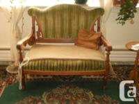 Antique turn of the century Victorian sofa and chair