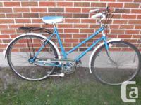 Rare Vintage 60s Ladies Dunelt 3spd Cruiser includes a