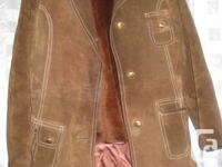 Vintage Women's leather Brown suede leather jacket ~