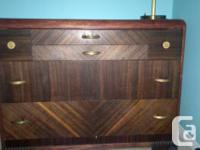 SELLING A GORGEOUS VINTAGE WOOD DRESSER.  THIS DRESSER