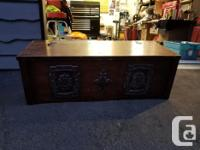 Wooden Chest. Very well built and very sturdy Won in a