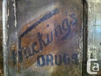 Antique doors from Hacking's Drugs, an old apothecary