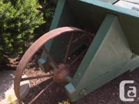 Early 1950's Vintage Wooden Wheelbarrow Sides Remove