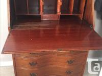 Vintage oak/mahogany writing desk with hutch, might be