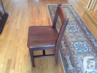 Solid, stable wood table measuring 24 wide and 12