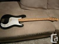 For sale is my 1985 Fender Squire Bullet Bass (Made In