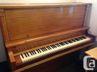 Marketing this antique, stand up piano to make some