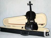 Violin Full Size Ebony Finish $108.00 Size: 3/4;  All