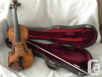 Bonjour jai un violon en ma possession et il ma eter
