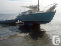twin keel 21' sail boat awesome little boat with 10 hp